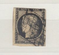 France 1850 20c Ceres Imperf Good Margins SG9 Used J4231