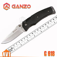 GANZO G618. Folding Knife EDC. ABS handle. stainless 440 blade. Camping tool.