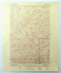 Mount Steel Washington Vintage 1950 USGS Topographic Map Olympic National Park