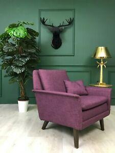 Purple Danish Design Armchair Chair Folke Ohlsson by FRITZ HANSEN