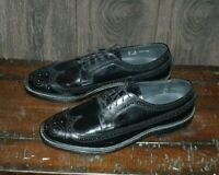Walk-Over Shoes by Geo. Keith Dress Shoes Men's 11 D/B Black Brogue Oxford Goody