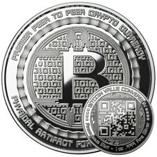 BITCOIN VALUE CONVERSION - 1 OZ .999 PURE SILVER PROOF ROUND -  ANONYMOUS MINT