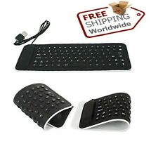 Foldable USB Mini Silicone Keyboard for Laptops Notebook Flexible Keypads Device