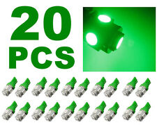 20 PCS Neon Green T10 Wedge 5-SMD 5050 LED Light bulbs W5W 2825 158 192 168 194