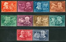 HUNGARY - 1948.AIR - Explorers and Inventors Cpl.Set MNH!! Mi 1011-1020