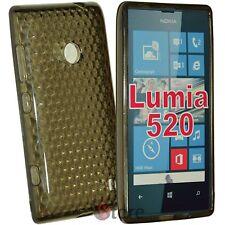 Cover Custodia Per Nokia Lumia 520 Nero Gel Silicone TPU silicone