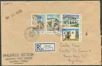 CYPRUS TO ARGENTINA Old Registered Cover VF