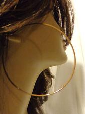 LARGE 3 INCH HOOP EARRINGS ASSORTED COLORS SIMPLE THIN HOOPS CIRCLE HOOPS