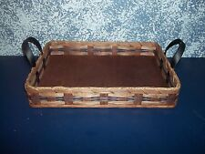 Amish Handmade Country Collectible Large Hot Dish Carrier Basket