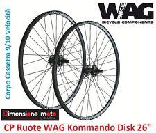 """CP Ruote WAG KOMMANDO DISK Alluminio Nero a Cassetta x Bici 26"""" MTB Mountain Bik"""