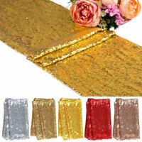"""Polyester Sequin Table Runners 12""""x71"""" Sparkle Glitter Wedding Party Decor Hot"""