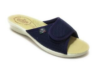 Fly Flot T4413 FE Blu Ciabatte Donna Made in Italy Zeppa 3 CM Anatomica