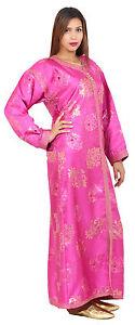 Caftan Kaftan Moroccan Takchita Wedding Gown Abaya Handmade FreeBelt Pink