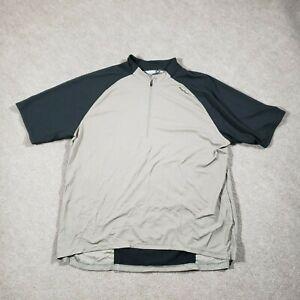 Sugoi Jersey Mens XXL Black Gray Cycling Athletic 1/4 Zip Pocket