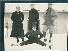 Suisse, Arosa, Séjour en Hiver Vintage silver print, provenant d'un album d