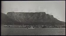 Glass Magic Lantern Slide TABLE MOUNTAIN AND BAY C1910 SOUTH AFRICA PHOTO