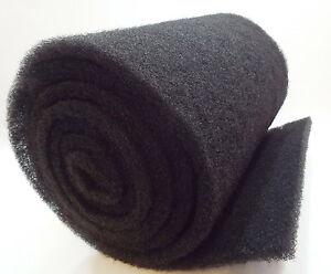"28"" x 20' Bulk Roll Coarse Black Filter Media-1.25"" thick-pond/aquarium-koi fish"