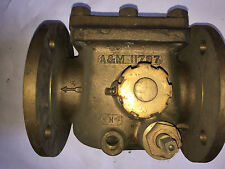 "GRINNELL 3"" FLANGED BRASS MANUALLY OPERATED CHECK/BACK FLOW VALVE"