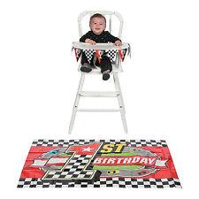 Birthday Party Racing RACE CAR 1ST BIRTHDAY High Chair Decoration Set