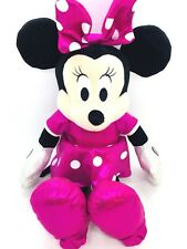 TY Disney Sparkle Minnie Mouse Plush Toy Stuffed Animal Pink 13""