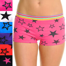 Angelina Lot of Stars and Colorful Stripes Boyshort Panties Underwear G3303 IW