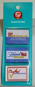 Craft Handmade Garment Care Labels Crafted with Love, Dry Flat, Hand Wash Only