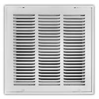 Return Air Filter Grille Vent Ventilation 14 in. x 14 in. White Duct HVAC Home