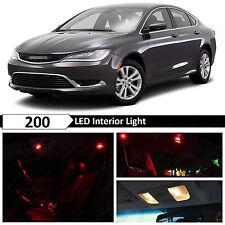 11x Red Interior LED Lights Package Kit for 2015-2016 Chrysler 200