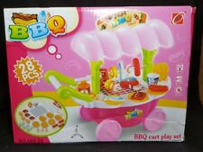 BBQ Time! BBQ Cart Play Set For Children ~ 28 Pieces ~ Lights & Sound ~ Ages 3+