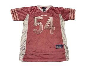 Chicago Bears Football Jersey Brian Urlacher #54 White Pink Girls L 14