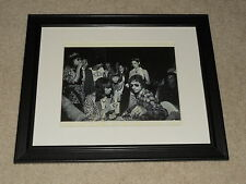 """Framed Keith Richards 29th Bday 1972, Bob Dylan, Mick Mini-Poster, 14"""" by 17"""""""