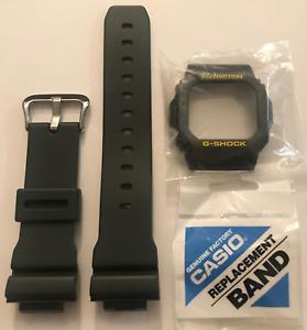 Casio  Original  Watch  Band G-5600A-3 GW-M5600A-3 Dark Green & Bezel G-5600