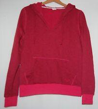 Roxy Womens Pullover Hoodie Sweater Sweatshirt M Red Drawstring Pockets Surfer
