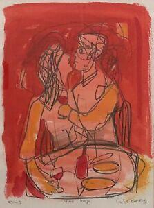 "Original Mixed Media Painting by Carlos Barrios ""Vino Rojo"""