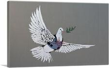 ARTCANVAS Armoured Peace Dove Canvas Art Print by Banksy