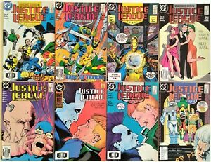 JUSTICE LEAGUE  INTERNATIONAL LOT OF 8  # 13-20 (1987-1988)VF/NM  COMBINE SHIP.