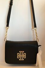 a4f8eaa43d16 Tory Burch Britten Cross body Black Genuine Leather Gold Hardware Small