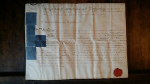 1803 VELLUM MANUSCRIPT OFFICERS COMMISSION CAPTAIN WALTER COLEMAN WILTS MILITIA