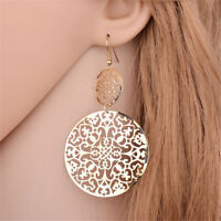 Women Bohemian Long Big Earrings Hollow Dangle Earrings Vintage Jewelry Gift