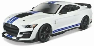 FORD Mustang SHELBY GT 500 - 2020 - white / blue - Maisto 1:18