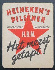 Ancien sous-bock bière HEINEKEN PILSENER variante coaster Bierdeckel 12