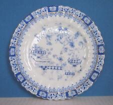 Teller   China blau   Durchmesser ca. 15,5 cm   Portland - Dresden
