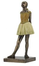 "Degas ""Little Dancer"" Replica Ballerina Bronze Color Finish Statue Figure NEW"