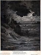 PURGATORIO: Bonconte da Montefeltro. Di Gustave Doré. Dante.Divina Commedia.1880