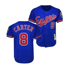 Montreal Expos Jersey Gary Carter MLB Béisbol Mitchell Ness Azul Retro Jersey