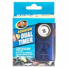 LM Zoo Med Aquatic AquaSun Dual Timer - 2 Outlet Day & Night Timer