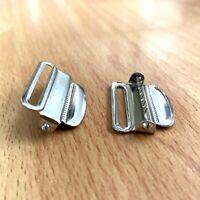 4pcs Metal Buckle with Slider Teeth Adjuster Belt  DIY Bags 1' 24mm 30Mm
