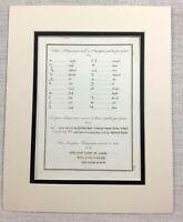 1821 Antico Incisione Antico Palmyra Siria Testo Ebraico Calligrafia