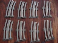 LEGO TRAIN 12V CURVED TRACK WITH CONDUCTING RAILS x 8