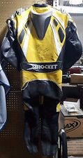 Vintage JOE ROCKET 1 piece Leather race suit, Owned and Signed by Steve Crevier